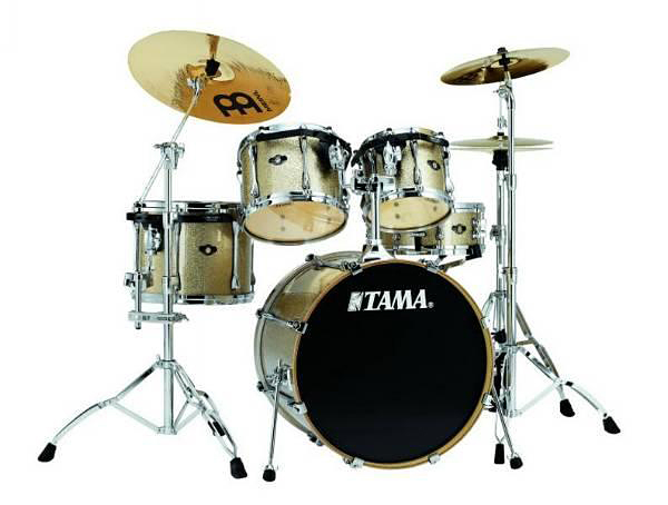 tama superstar sx52fs vintage- nickel sparkle